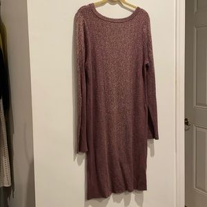 LOGO dress soft knitted purple with pattern